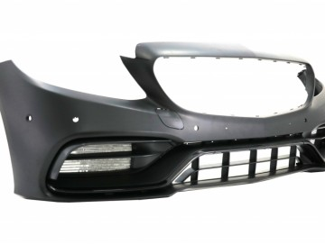 Front Bumper suitable for Mercedes C-Class W205 S205 A205 C205 Limousine T-Model Coupe Cabriolet (2014-up) C63 Design Facelift