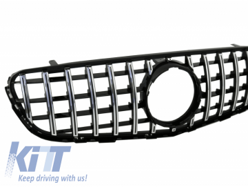 Front Central Grille suitable for MERCEDES GLC X253 C253 (2015-2018) GT R Panamericana Look Without 360 Camera