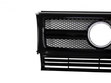 Front Grille suitable for Mercedes W463 G-Class (1990-2012) New G65 G63 A-Design Piano Full Black Edition