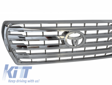 Front grille suitable for TOYOTA Land Cruiser V8 FJ200 (2008-2011) Conversion to 2012 Facelift Model Chrome