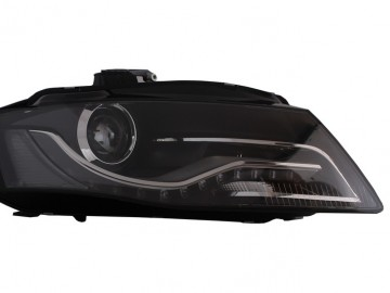 Headlights LED DRL suitable for AUDI A6 4B (1997-2001) Black