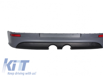 Rear Bumper Extension Complete Exhaust System suitable for VW Golf V 2003-2008 with Taillights Dynamic and Side Skirts GTI R32 Look