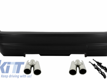 Rear Bumper Suitable For BMW E46 1998-2005 3 Series Spoiler M3 CSL Design with Exhaust Tailpipes