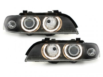 Suitable for BMW 5 Series E39 (1995-2000) Xenon HID Headlights with Angel Eyes Facelift LCI Design