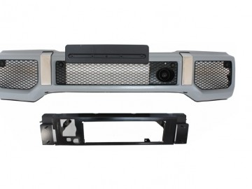 Suitable for MERCEDES Benz G-Class W463 (1989-2012) Front Bumper Assembly G65 A-Design with Grille G63 GT-R Panamericana Design